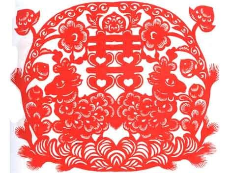 Traditional Chinese wedding paper-cut